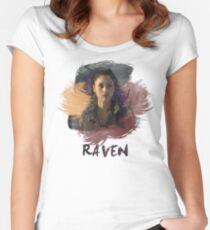 Raven - The 100 -  Brush Women's Fitted Scoop T-Shirt