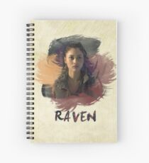 Raven - The 100 -  Brush Spiral Notebook
