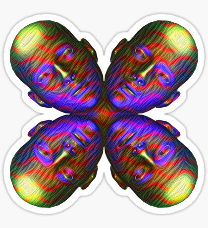 #DeepDream Masks - Heads - Butterfly 5x5K v1455803831 Sticker