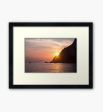 Idyllic Sundown - Nature Photography Framed Print