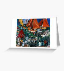 Dufy Raoul - Fte Nautique The Regatta 1920-1922 , Seascape  Greeting Card