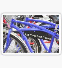Bicicletas azules Sticker