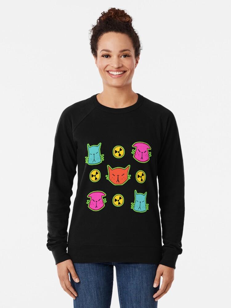 Alternate view of NUCLEAR CATS Lightweight Sweatshirt