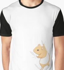 Climbing Hamster Graphic T-Shirt
