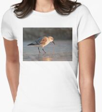 Sandpiper Feeding Womens Fitted T-Shirt