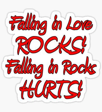 falling in love & rocks Sticker
