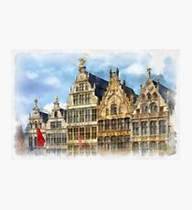 Guildhouses at Grote Markt - Antwerp Photographic Print