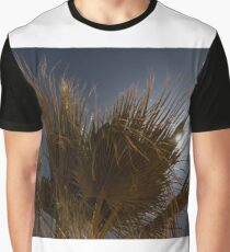 Moon behind the palm tree Graphic T-Shirt