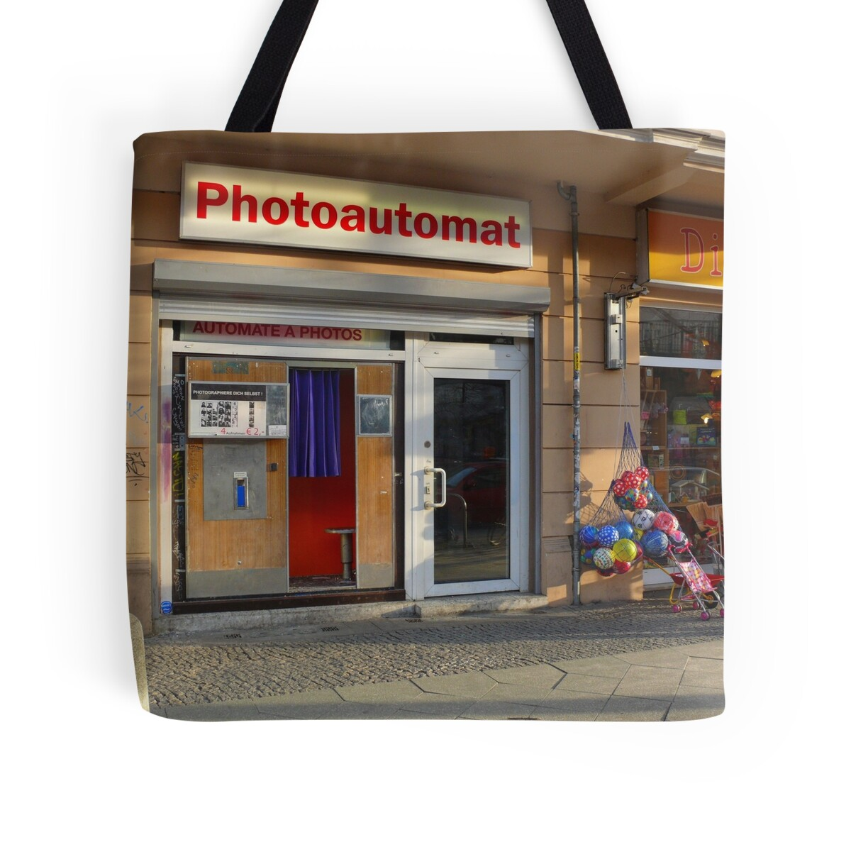 old photo booth in berlin 003 germany tote bags by ralf schroeer redbubble. Black Bedroom Furniture Sets. Home Design Ideas