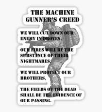 The Machine Gunner's Creed Sticker