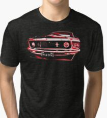 Ford Mustang illustration - red Tri-blend T-Shirt