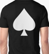 ACE, Ace of Spades, White on Black, Music, Motorbike, Hells Angels, Gang, Cards T-Shirt