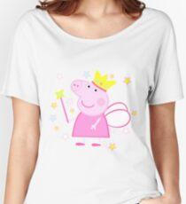 Camiseta ancha para mujer Peppa Fairy Pig