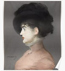 Edouard Manet - Irma Brunner 1880 , French Impressionism , Woman , Fashion ,  Portrait Poster