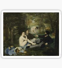 Edouard Manet - Luncheon on the Grass 1863 , French  Impressionism ,  Landscape  Sticker