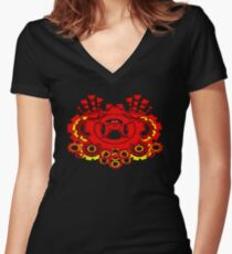 Mr. Robot Mk3 Women's Fitted V-Neck T-Shirt