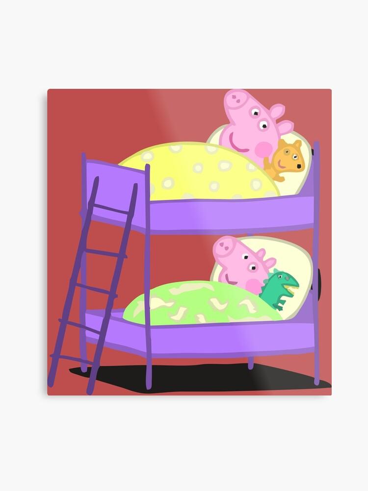 Peppa Pig Bed Time Metal Print