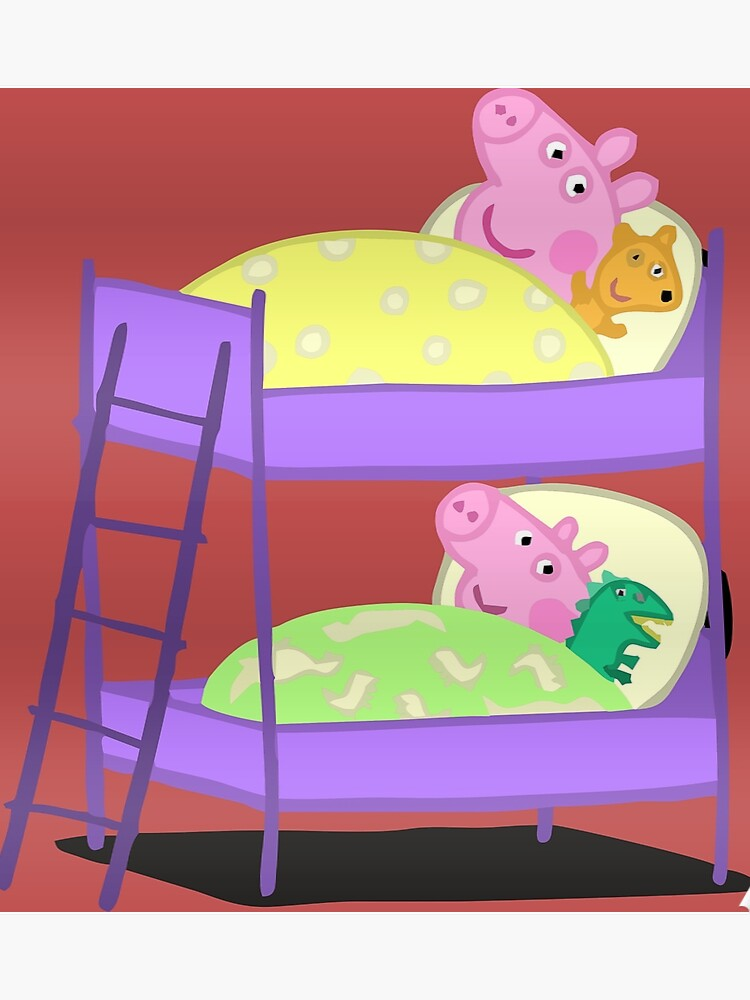 Peppa Pig Bed Time Poster