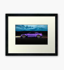 Purple R35 GTR Framed Print