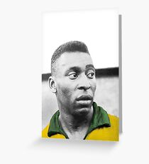 Pelè - Brazilian top player Greeting Card