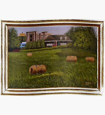 """""""A Little Bit of Country"""" ... with a canvas and framed presentation, for prints and products Poster"""