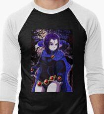 Camiseta ¾ bicolor para hombre Teen Titans: Raven