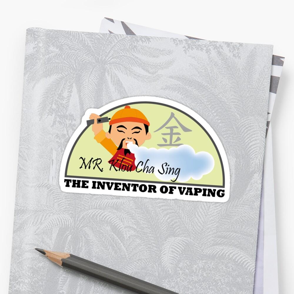 vape inventor mr cloudchasing stickers by 2vape redbubble
