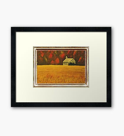 """Mountain Autumn"" ... with a canvas and framed presentation, for prints Framed Print"