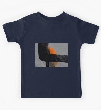 Minimal Orange on Black Kids Clothes