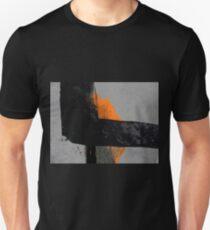 Minimal Orange on Black T-Shirt