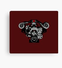 Twin-turbo engine Canvas Print