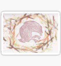 Sleeping hare Sticker