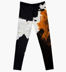 Minimal Orange auf Schwarz Leggings
