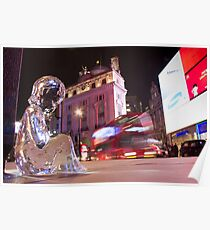 #PleaseLookAfterMe Ice Sculptures - London Poster