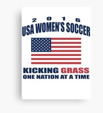 Kicking Grass Canvas Print