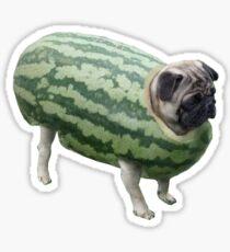 Watermelon Pug Sticker