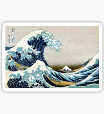 Die große Welle, berühmte japanische Grafik Sticker