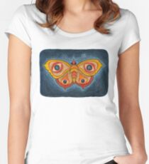Big Eye Butterfly Women's Fitted Scoop T-Shirt