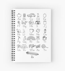 Kid's Outlined Learning Alphabet Letters Spiral Notebook