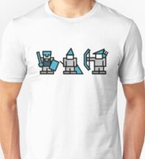 8 Bit Gaming Characters - Knight, Wizard, Archer Unisex T-Shirt