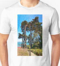 Golden Cypress Trees Unisex T-Shirt