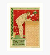 Art nouveau Brussels architect advertising Art Print