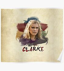 Clarke - The 100 - Brush Poster