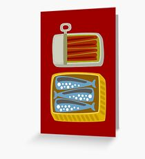 Canned Fish Greeting Card