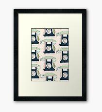 Retro Telephone Framed Print