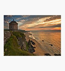Mussenden Temple Sunset Photographic Print