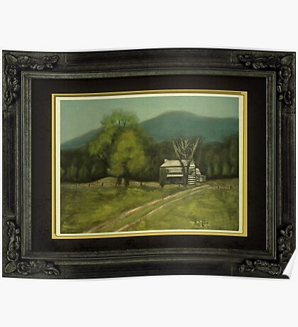 """""""Philip's Place"""", with a textured paper impression, in a matted and framed presentation, for prints and products Poster"""
