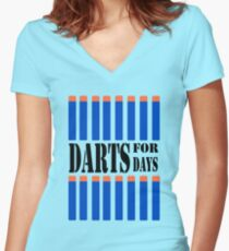 NERF TOY DESIGN- DARTS FOR DAYS! Women's Fitted V-Neck T-Shirt