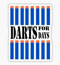 NERF TOY DESIGN- DARTS FOR DAYS! Sticker