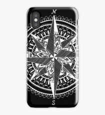 White Compass iPhone Case/Skin